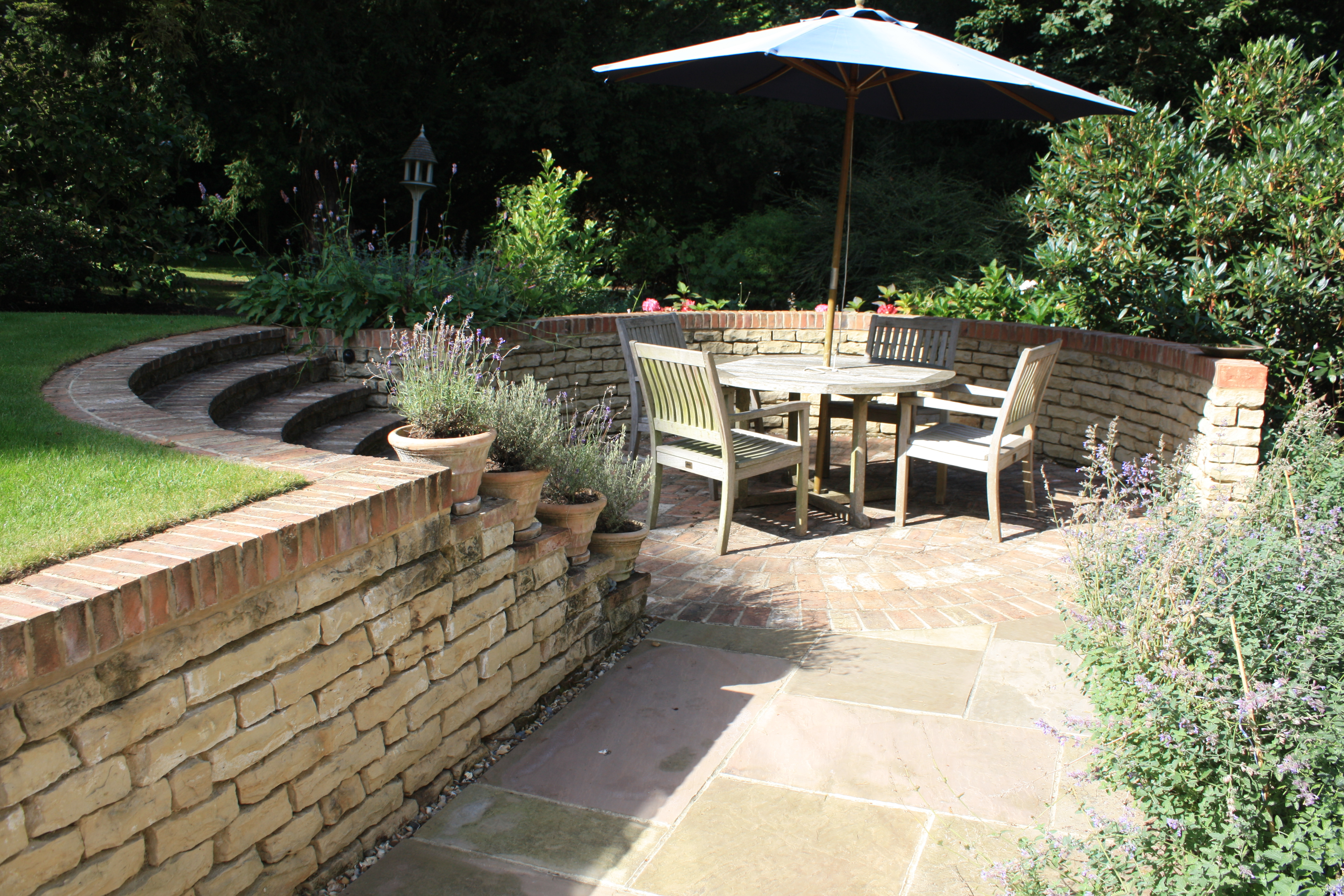 A Large Award Nominated Garden With Water Feature Near